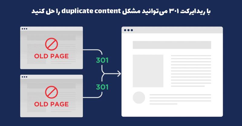 آموزش حل مشکل duplicate content به کمک ریدایرکت 301