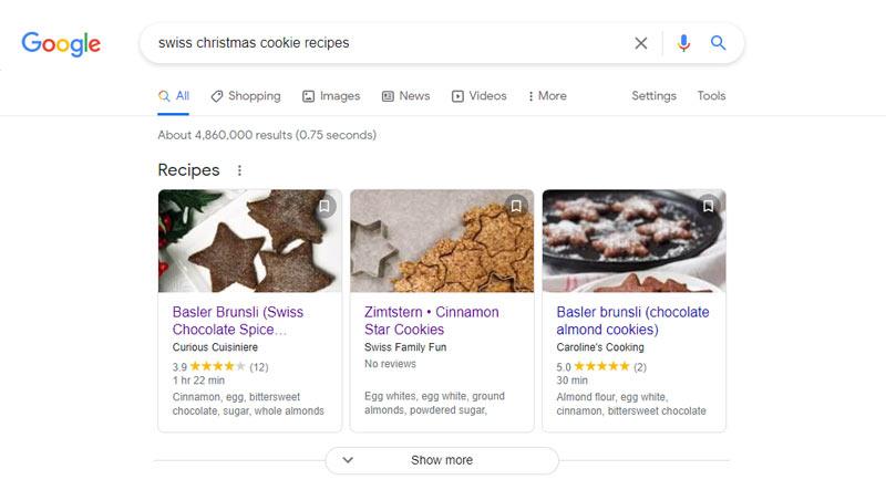 استفاده از اسکیما دستور پخت کیک برای رتبه گرفتن در الگوریتم مرغ مگس خوار
