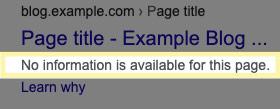 وقتی یک صفحه که در فایل robots.txt بلاک شده در نتایج گوگل ظاهر میشود