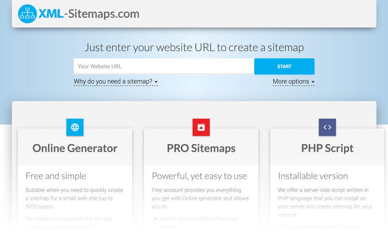 ساخت sitemap به کمک سایت های واسطه