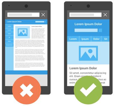 موبایل فرندلی بودن سایت در الگوریتم mobile geddon