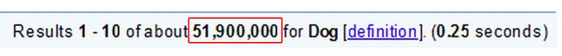 google index size before google caffeine